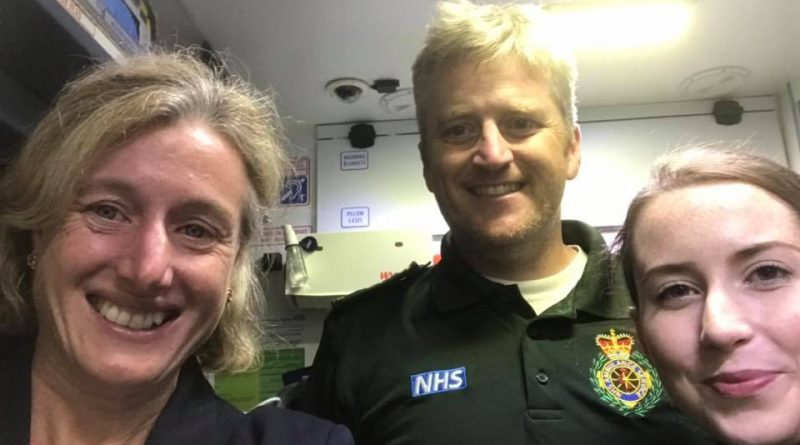 Ruth George MP praises emergency services after 14.5 hour Ambulance shift